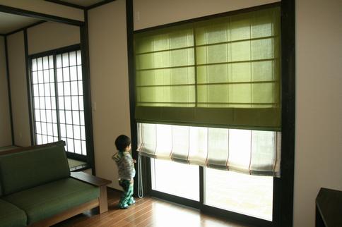 古民家風のお家のカーテン