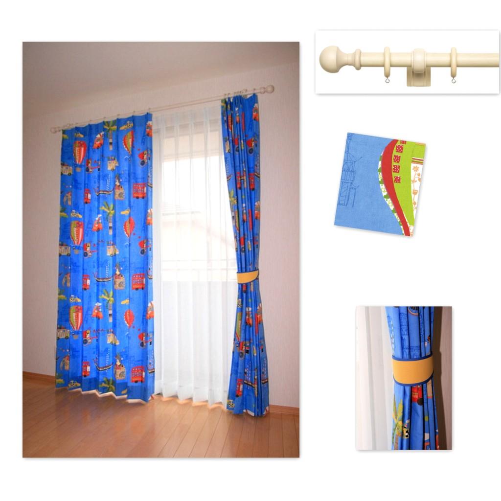 子供部屋のカーテン 感性を育むポップでキュートな輸入生地