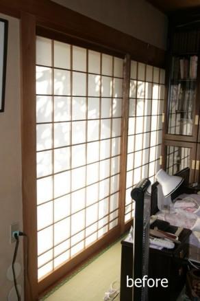 障子からカーテンは簡単で効果的リフォーム