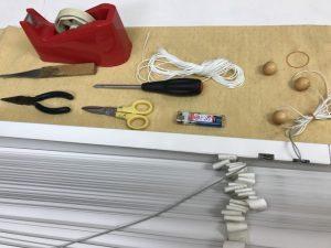 ブラインドの修理道具