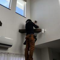 開閉がスムーズな、天幕カーテン紐引き操作の取り付け事例