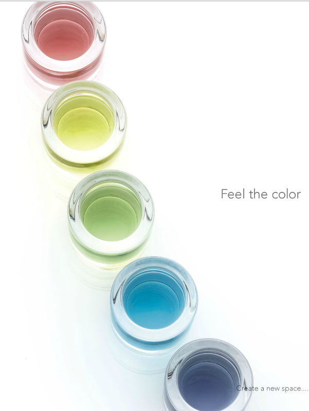 学校のカーテンは Feel The Color