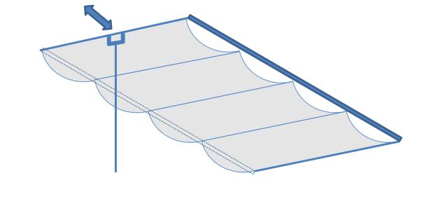 天幕カーテン・バトン式の構造図