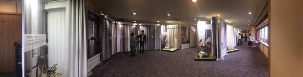 川島織物セルコン展示会全景
