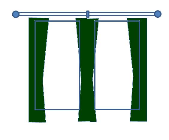 カーテンの吊り方2