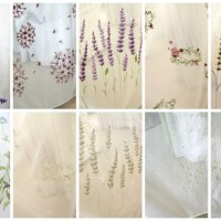 カラー刺繍レースカーテン 18アイテム導入