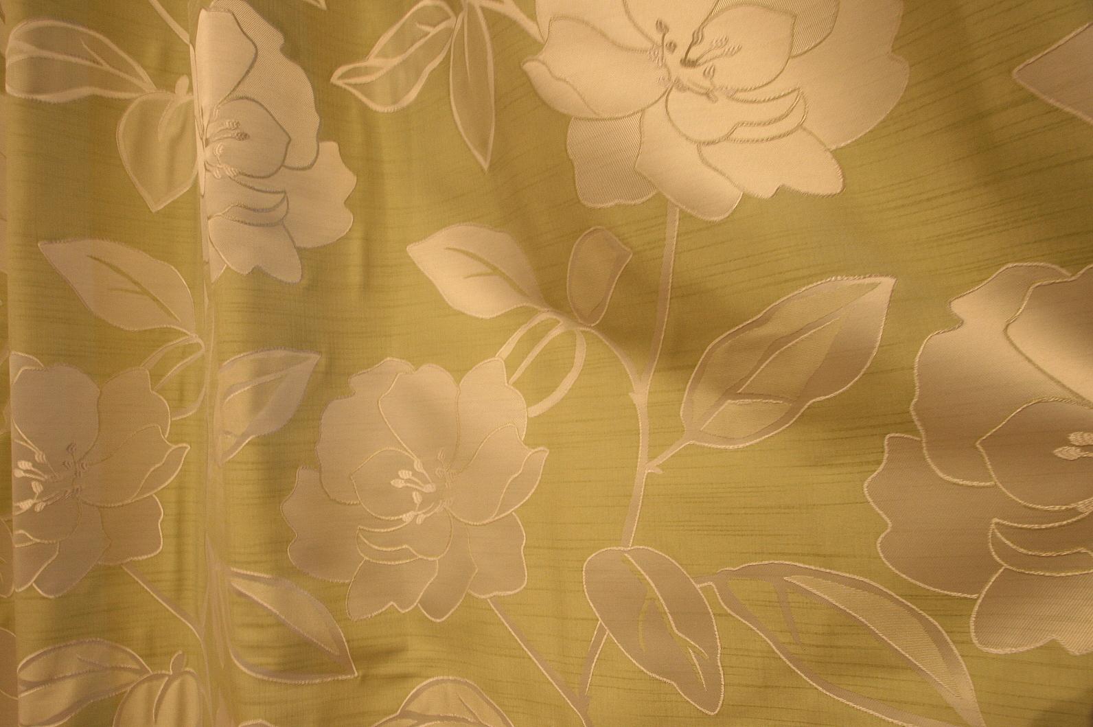 凝った織りカーテン