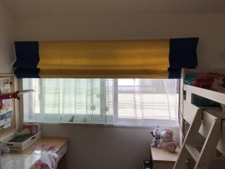 子供部屋チェンジに伴うカーテン吊り替え