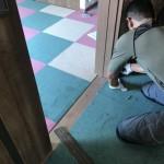 タイルカーペットの施工