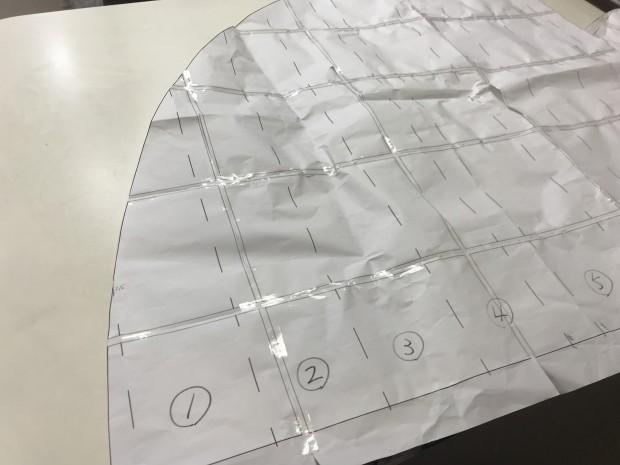 アーチ窓型紙