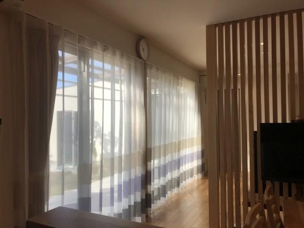 片開きカーテンの事例