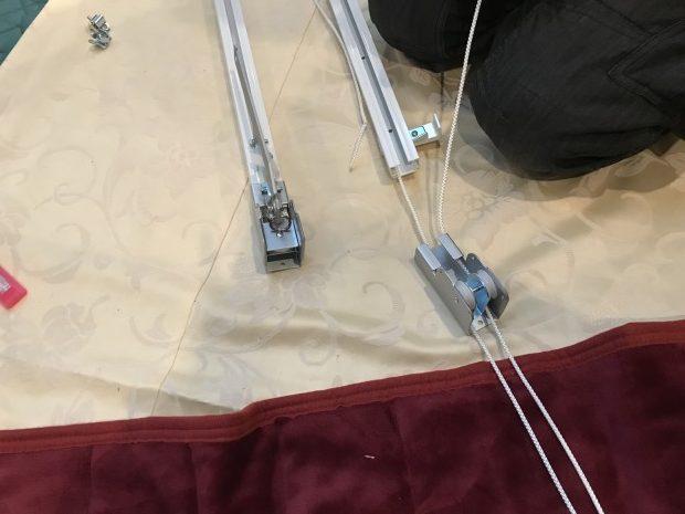 紐引きカーテン