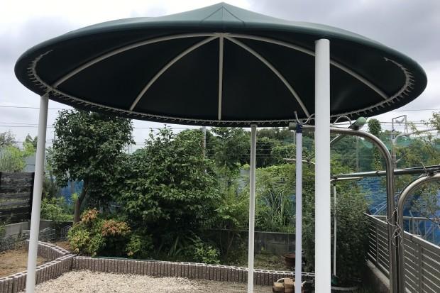 円形固定テント設置