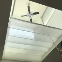 吹き抜けに天幕カーテンで寒さ対策・その効果