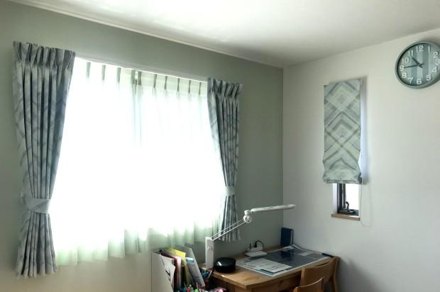 子ども部屋のカーテンはトレンドのジグザグ柄