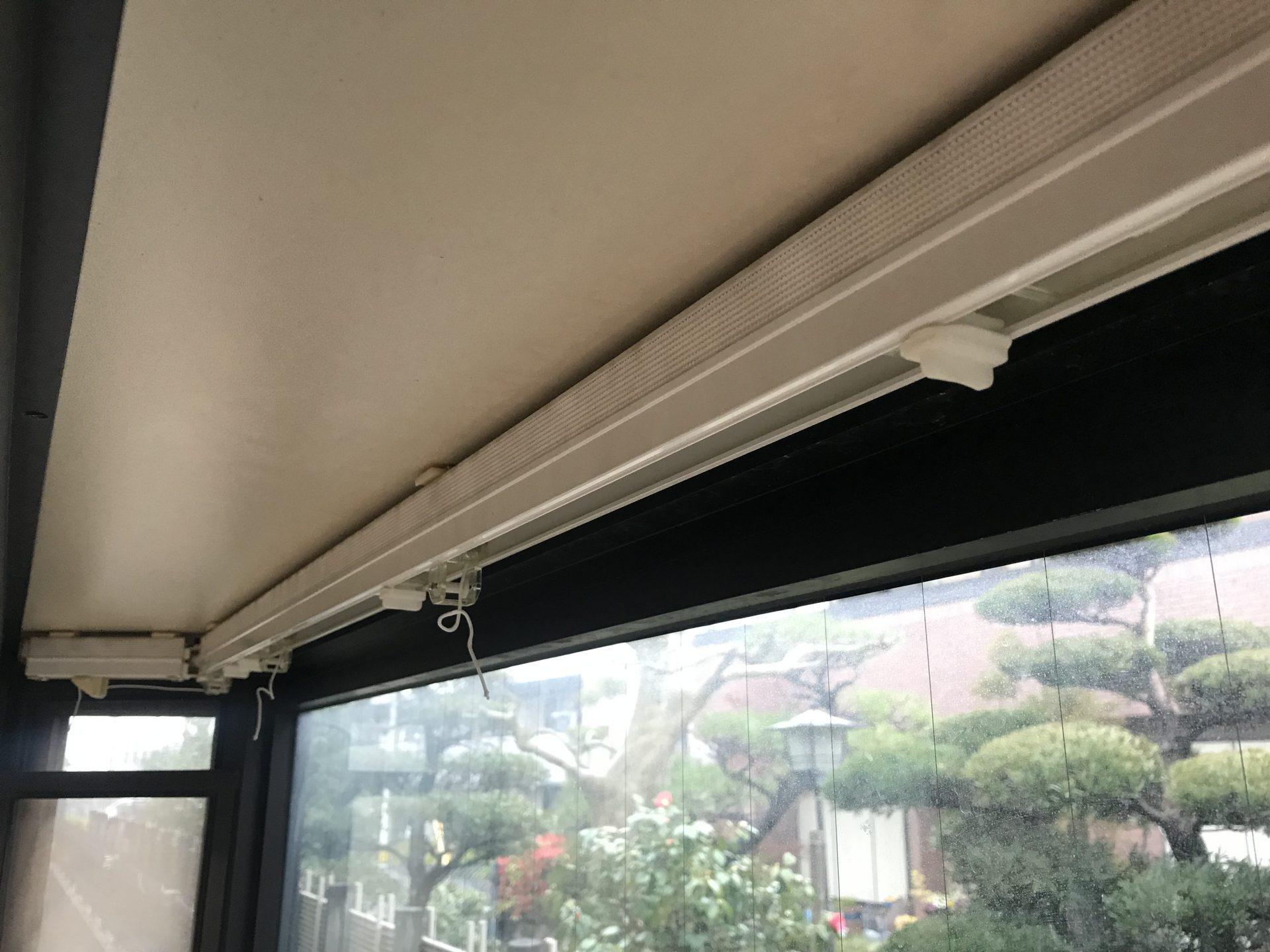 台形出窓とボウウィンドウのスタイルカーテン