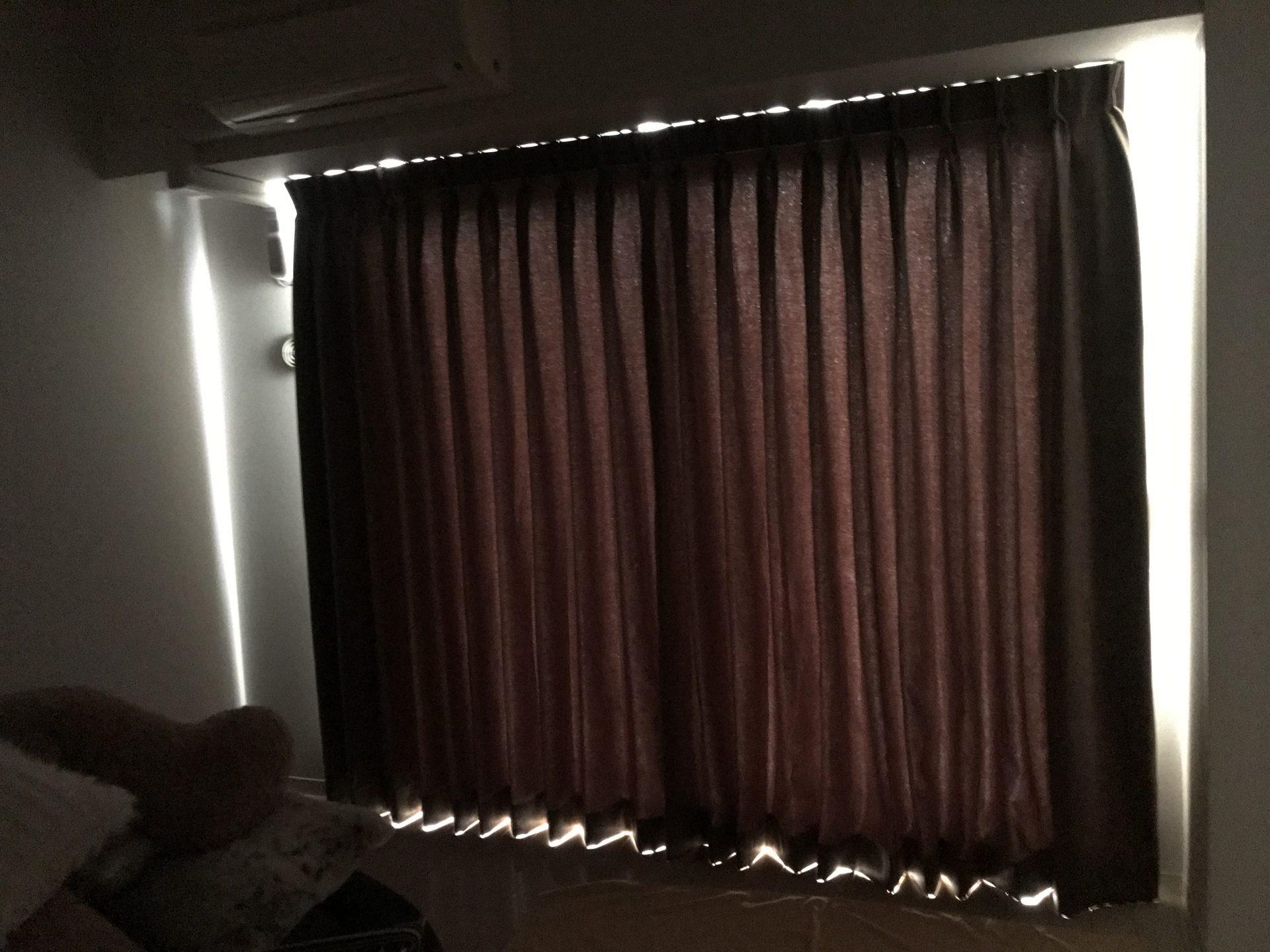 遮光カーテン1級Bの暗さ加減