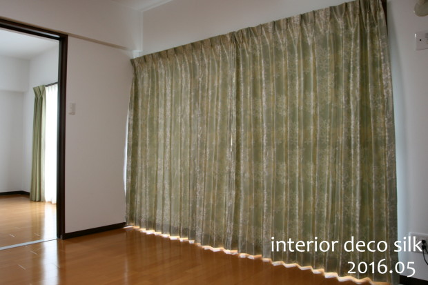 デザイン、織り加工に工夫を重ねた、品のあるカーテン