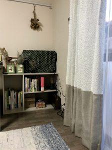 20代女子部屋カーテン