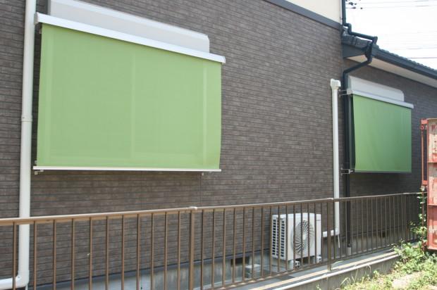 外付けロールスクリーンの外壁面取付