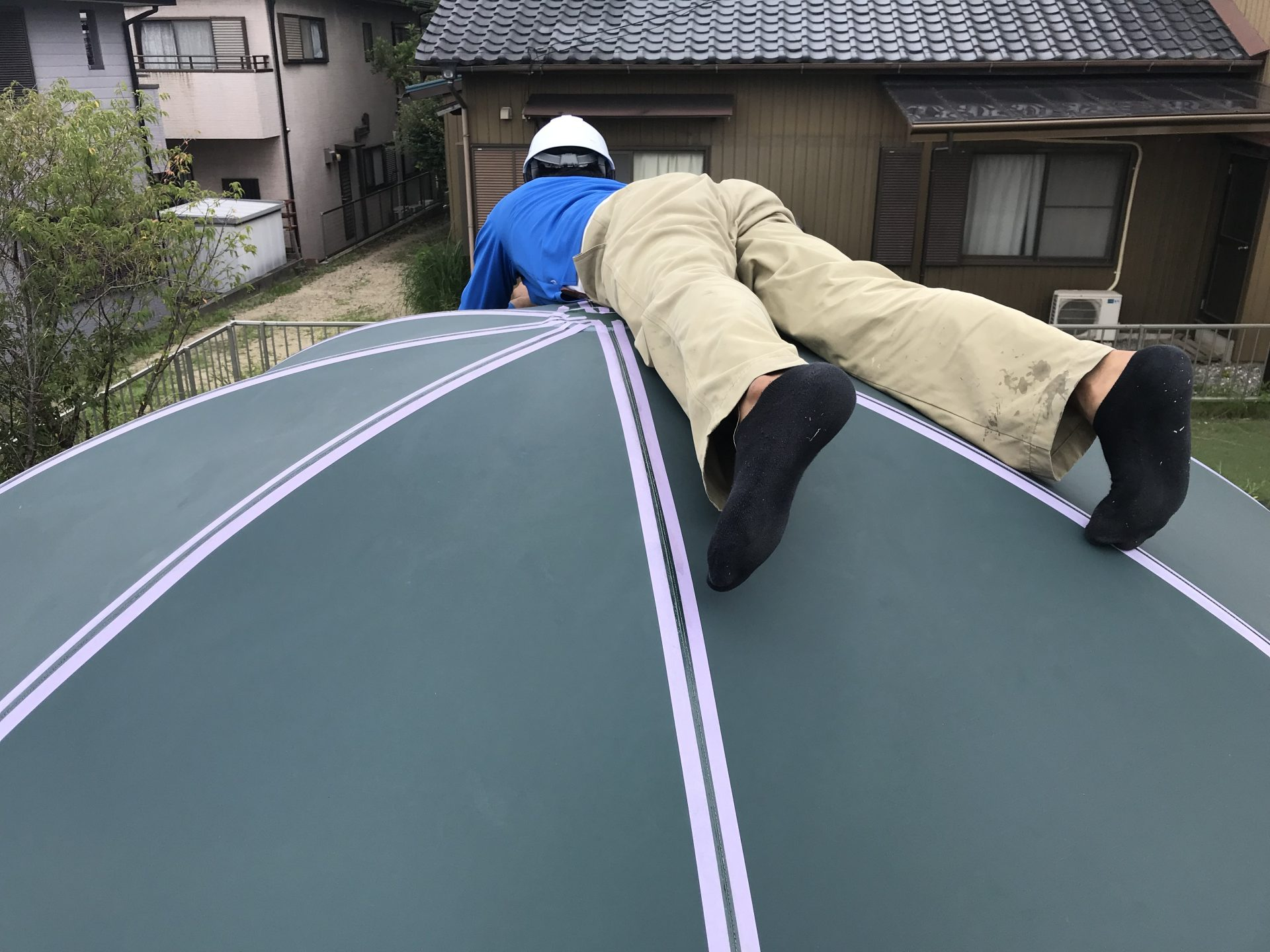 円形テント補修