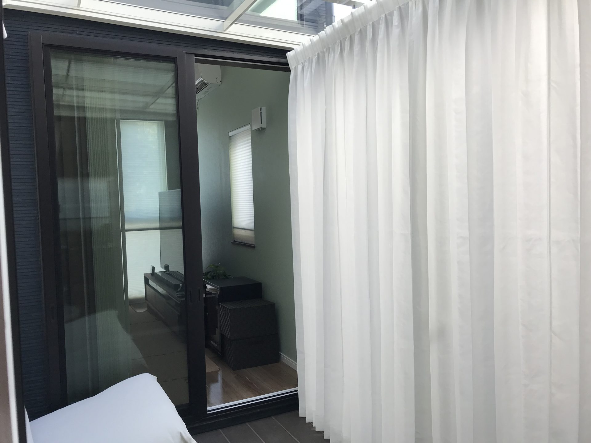 サンルームのカーテン