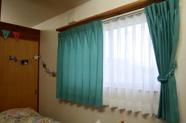 ターコイズのカーテン