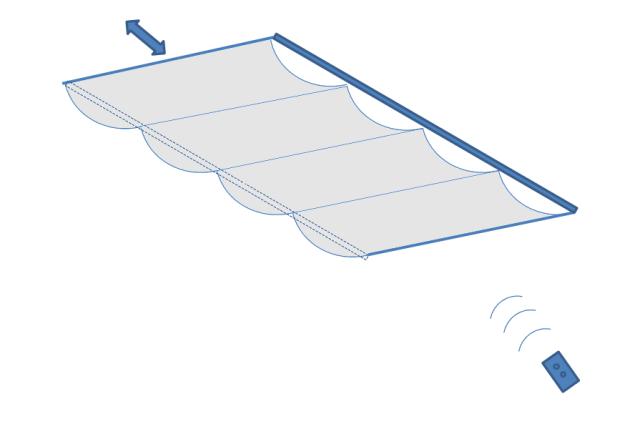 天幕カーテン・電動式の構造図
