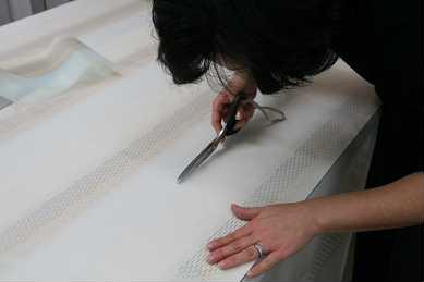天幕カーテン縫製
