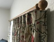 リターン付きカーテン